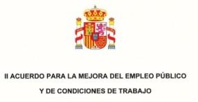 II Acuerdo para la mejora del empleo público y las condiciones de trabajo