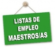 Próxima apertura Listas de Empleo maestros/as