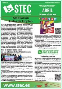 Boletín Informativo STEC-IC abril 2018