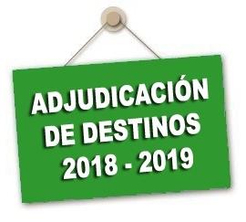 Convocatoria Adjudicación de destinos provisionales para el curso 2018-2019