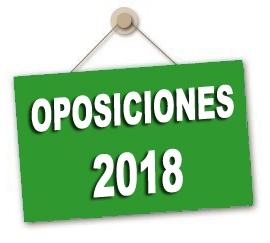 Listas provisionales de aspirantes admitidos y excluidos Oposiciones 2018