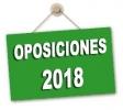 Listas definitivas admitidos Oposiciones 2018 y hora y lugar de los actos de presentación y primera prueba