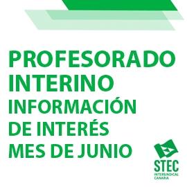 Información para interinos/as que terminan contrato en junio