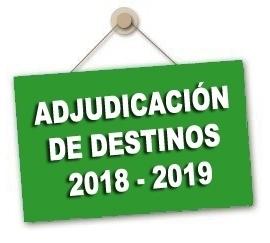 Adjudicación provisional de destinos cuerpo de maestros/as curso 2018-2019