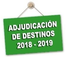 Adjudicación definitiva de destinos 2018-2019 Conservatorios