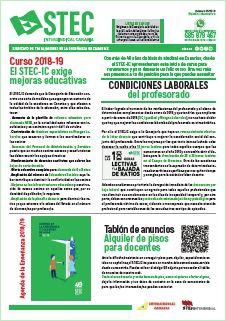 Boletín Informativo STEC-IC septiembre 2018