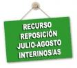 Modelo Recurso de Reposición cobro de julio y agosto para el profesorado interino