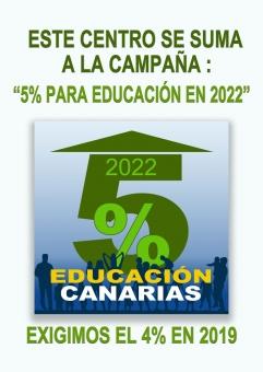 El STEC-IC apoya la campaña por el 5% de inversión para Educación