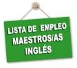 Lista de Empleo provisional de admitidos y excluidos inglés maestros/as