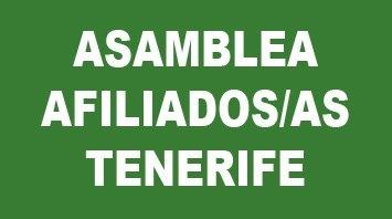 Convocatoria Asamblea de afiliados/as en Tenerife martes 30 de octubre