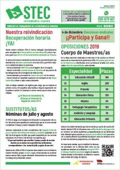 Boletín Informativo STEC-IC noviembre 2018