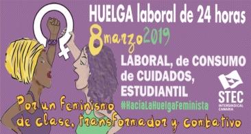 El STEC-IC secunda y convoca la huelga feminista del 8 de marzo