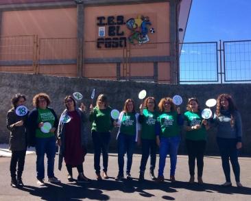 El profesorado del IES El Paso retoma los Jueves Reivindicativos