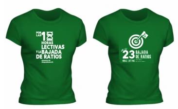Camisetas por las 18 horas y las 23 horas lectivas