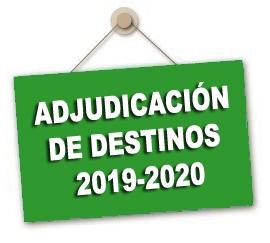 Convocatoria Adjudicación de destinos provisionales para el curso 2019-2020