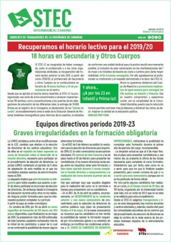 Boletín Informativo STEC-IC mayo 2019