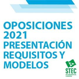 OPOSICIONES 2021: Presentación requisitos (con modelos) aspirantes seleccionados
