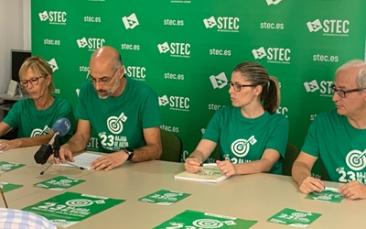 El STEC-IC denuncia que el nuevo curso comienza como prolongación de los problemas del anterior