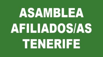 Convocatoria Asamblea de afiliados/as en Tenerife Miércoles 18 de septiembre