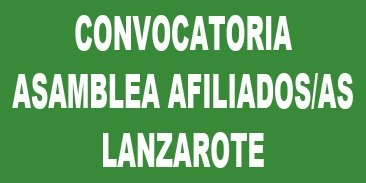 Convocatoria Asamblea insular de afiliados/as de Lanzarote
