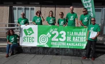 El STEC-IC presenta 2.500 firmas por las 23 horas lectivas en Infantil y Primaria y la bajada de ratios en todas las etapas