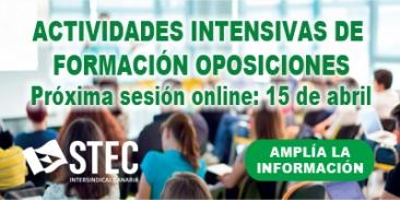 Se mantiene la Actividad intensiva de formación Online para Oposiciones (15 de abril)