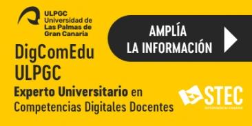 Título de Experto y cursos en Competencias Digitales Docentes de la ULPGC con descuento para la afiliación del STEC-IC
