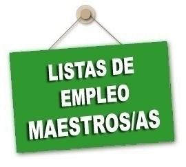 Publicación Listas de Empleo Provisionales Maestros/as derivadas de las Oposiciones 2019