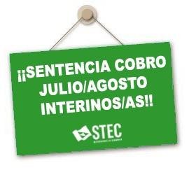 El STEC-IC gana por sentencia el cobro de julio y agosto para una docente interina nombrada hasta el 30 de junio