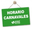 Horarios de atención del STEC-IC durante la semana de Carnavales