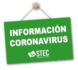 Información remitida por la Consejería de Educación sobre el Coronavirus