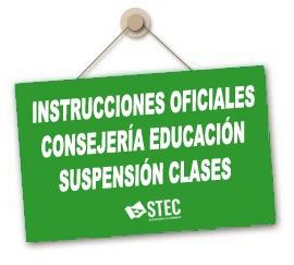Instrucciones oficiales Consejería de Educación durante la suspensión de clases presenciales