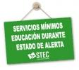 Resolución de la Consejería de Educación sobre Servicios Mínimos durante el periodo de estado de alarma