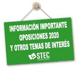 INFORMACIÓN IMPORTANTE OPOSICIONES 2020 Y OTROS TEMAS SOBRE EL ACTUAL ESTADO DE ALERTA