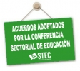 Acuerdos de la Conferencia Estatal de Educación sobre el tercer trimestre y el inicio del próximo curso