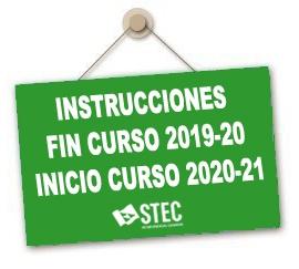 Instrucciones Fin de Curso 2019-20 e Inicio de Curso 2020-21
