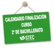 Flexibilización del calendario final de curso para 2º de Bachillerato
