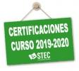 Certificación participación profesorado en redes, programas, proyectos e itinerarios formativos curso 2019-2020