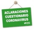 Aclaraciones sobre el cuestionario para detectar al personal especialmente sensible al Coronavirus