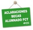 Nota Informativa sobre becas para alumnado de Formación Profesional que aplazó el módulo de FCT