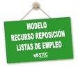 Modelo de Recurso de Reposición a las Listas definitivas de cuerpo de maestros/as