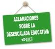 Aclaraciones sobre la actividad educativa presencial hasta fin de curso
