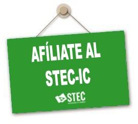 ¡No lo dudes! Afíliate al STEC-IC