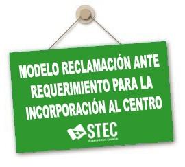 Modelo de reclamación ante requerimiento para la reincorporación al centro educativo