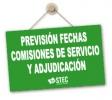 Previsión de fechas publicación Comisiones de Servicio y Adjudicación de Destinos Provisionales