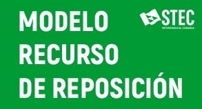 Modelo de Recurso de Reposición a la Adjudicación de destinos definitivos de Secundaria y Otros Cuerpos