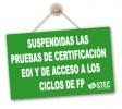 A instancias del STEC-IC se suspenden las pruebas presenciales de certificación de EOI y de acceso a los ciclos de FP