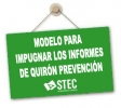 Modelo para impugnar los Informes emitidos por Quirón Prevención