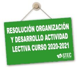 Resolución conjunta Instrucciones organización y desarrollo actividad lectiva curso 2020-2021