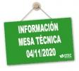 Mesa Técnica 04-11-2020: Oposiciones, Concurso de Traslados, Listas de Empleo...